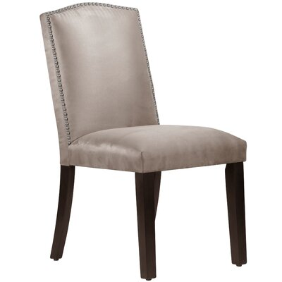 Nadia Parsons Chair with Nail Buttons Upholstery Premier Platinum