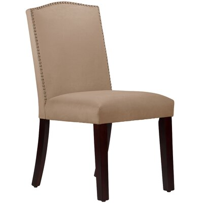 Nadia Parsons Chair with Nail Buttons Body Fabric: Velvet Pearl