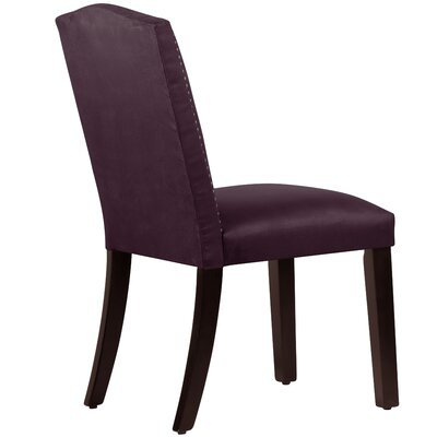 Nadia Parsons Chair with Nail Buttons Upholstery Premier Purple