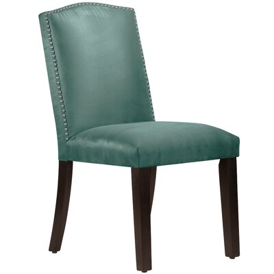 Nadia Parsons Chair with Nail Buttons Body Fabric: Premier Tidepool