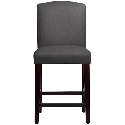 Nadia 26 Bar Stool Body Fabric: Linen Cindersmoke