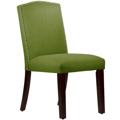 Nadia Parsons Chair with Nail Buttons Upholstery Linen Kelly Green