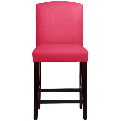 Nadia 26 Bar Stool Body Fabric: Linen Fuchsia