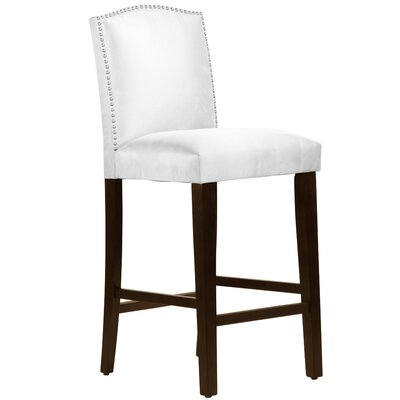 Nadia 31 Nail Button Bar Stool Body Fabric: Premier White