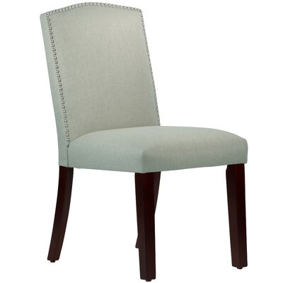 Nadia Parsons Chair with Nail Buttons Body Fabric: Linen Swedish Blue