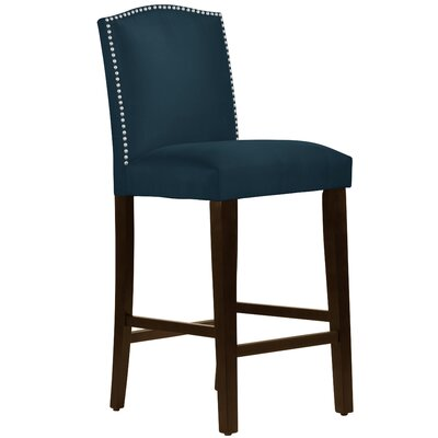Nadia 31 Nail Button Bar Stool Body Fabric: Premier Navy
