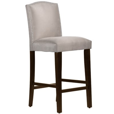 Nadia 31 Nail Button Bar Stool Body Fabric: Premier Platinum