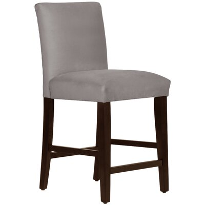 Connery 26 Bar Stool Body Fabric: Velvet Steel Grey