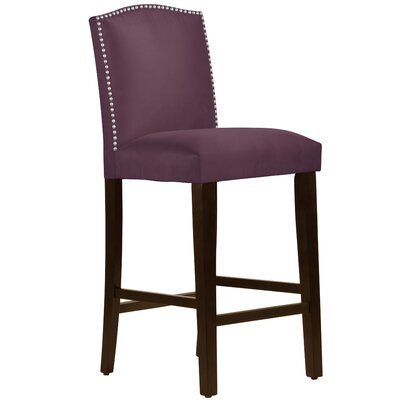Nadia 31 Nail Button Bar Stool Body Fabric: Premier Purple