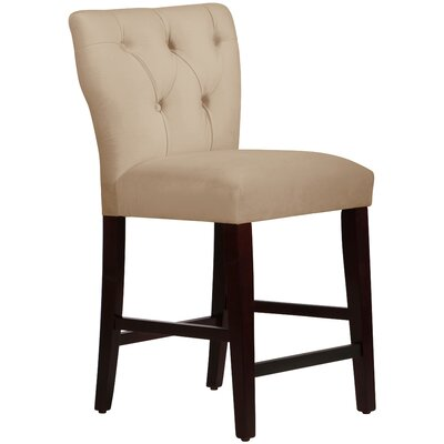 Evelina 26 inch Bar Stool Body Fabric: Velvet Berry