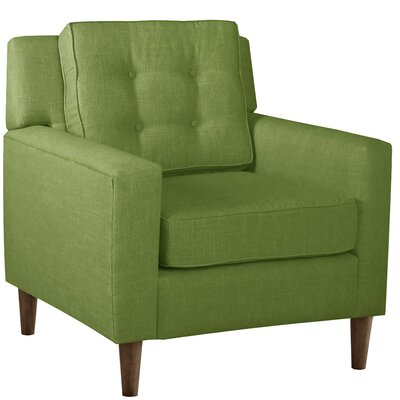 Elena Arm Chair Upholstery: Linen Kelly Green