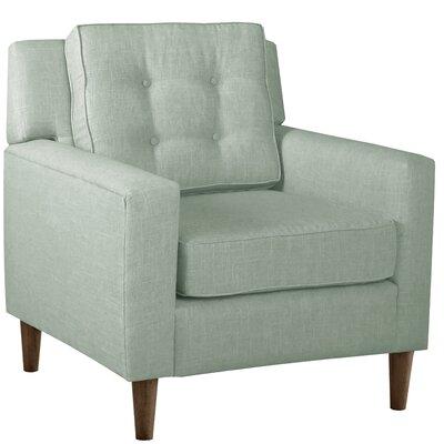 Elena Arm Chair Upholstery: Linen Swedish Blue