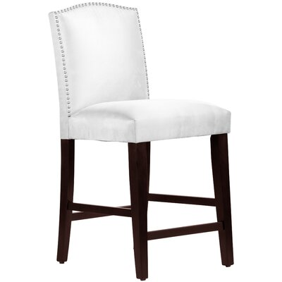 Nadia 26 Bar Stool Body Fabric: Premier White