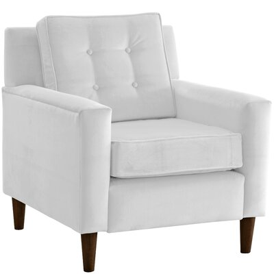Elena Arm Chair Upholstery: Premier Microsuede White