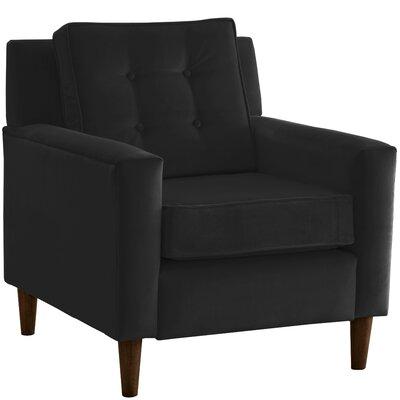 Elena Arm Chair Upholstery: Velvet Black