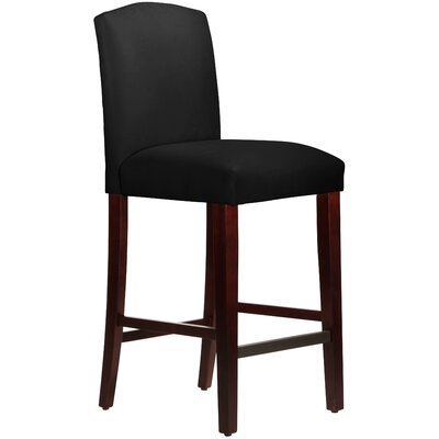 Nadia 31 Bar Stool Body Fabric: Velvet Black