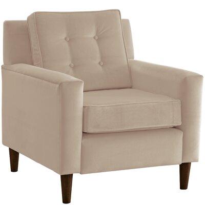Elena Arm Chair Upholstery: Velvet Pearl