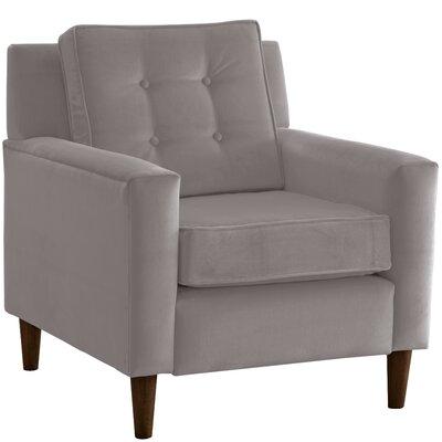 Elena Arm Chair Upholstery: Velvet Steel Grey