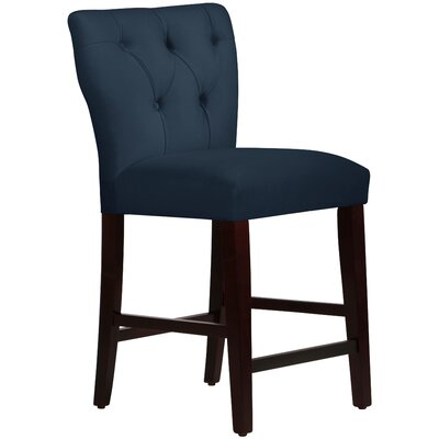 Evelina 26 Bar Stool Upholstery: Premier Navy