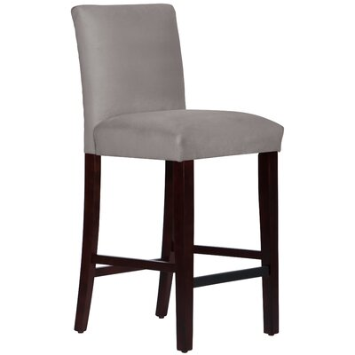 Connery 31 Bar Stool Body Fabric: Velvet Steel Grey