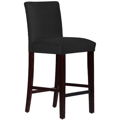 Connery 31 Bar Stool Body Fabric: Velvet Black