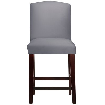 Nadia 26 Bar Stool Body Fabric: Velvet Steel Grey
