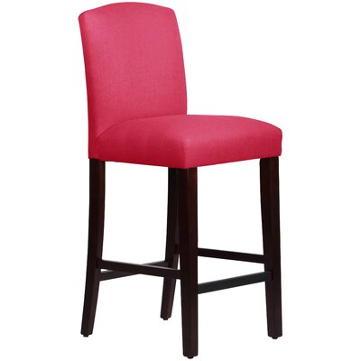 Nadia 31 inch Bar Stool Body Fabric: Linen Fuchsia