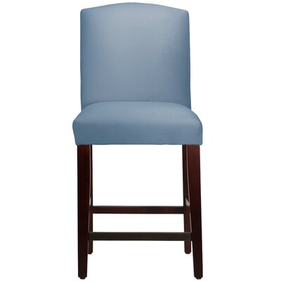 Nadia 26 Bar Stool Body Fabric: Velvet Ocean