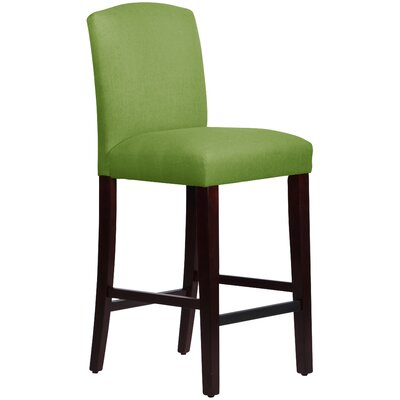 Nadia 31 Bar Stool Body Fabric: Linen Kelly Green