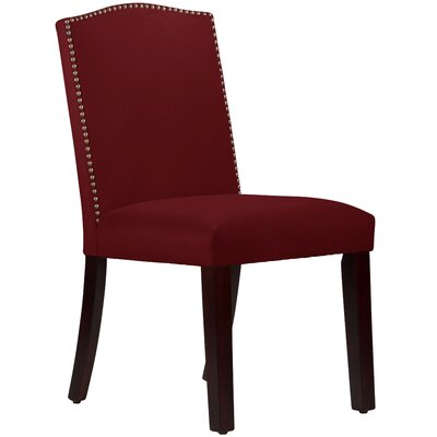 Nadia Parsons Chair with Nail Buttons Upholstery Velvet Berry