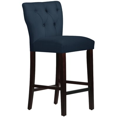 Evelina 31 Bar Stool Upholstery: Premier Navy