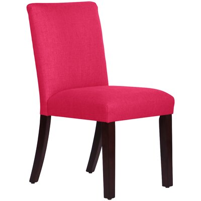 Connery Parsons Chair Body Fabric: Linen Fuchsia