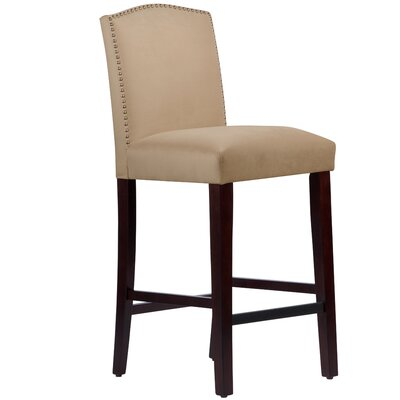 Nadia 31 Nail Button Bar Stool Body Fabric: Velvet Pearl