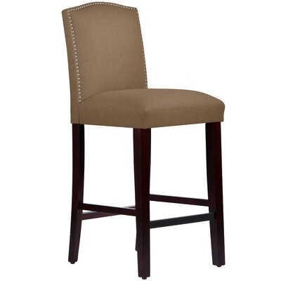 Nadia 31 Nail Button Bar Stool Body Fabric: Linen Taupe