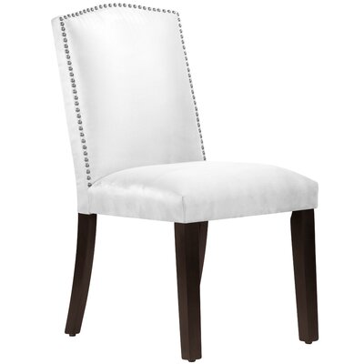 Nadia Parsons Chair with Nail Buttons Body Fabric: Premier White
