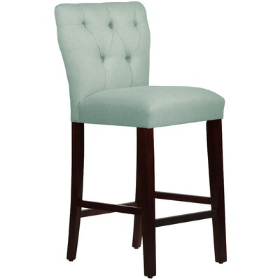Evelina 31 Bar Stool Upholstery: Linen Swedish Blue