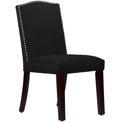 Nadia Parsons Chair with Nail Buttons Upholstery Velvet Black