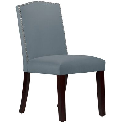 Nadia Parsons Chair with Nail Buttons Upholstery Velvet Ocean
