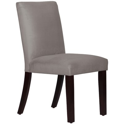 Connery Parsons Chair Body Fabric: Velvet Steel Grey