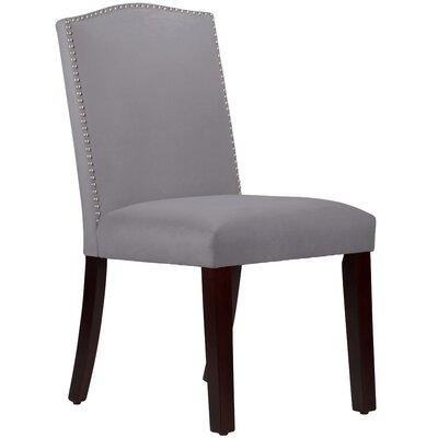 Nadia Parsons Chair with Nail Buttons Upholstery Velvet Steel Grey