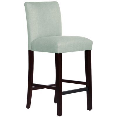 Connery 31 Bar Stool Body Fabric: Linen Swedish Blue