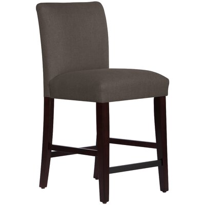 Connery 26 Bar Stool Body Fabric: Linen Cindersmoke