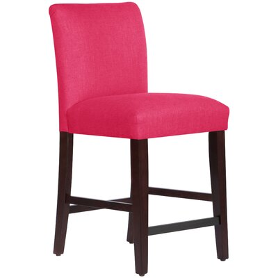 Connery 26 Bar Stool Body Fabric: Linen Fuchsia