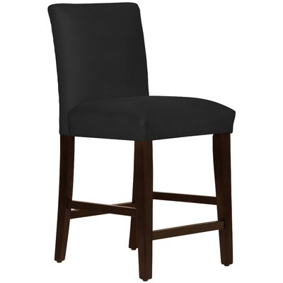 Connery 26 Bar Stool Body Fabric: Velvet Black