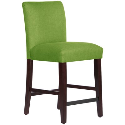 Connery 26 Bar Stool Body Fabric: Linen Kelly Green