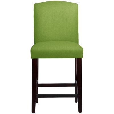 Nadia 26 inch Bar Stool Body Fabric: Linen Kelly Green