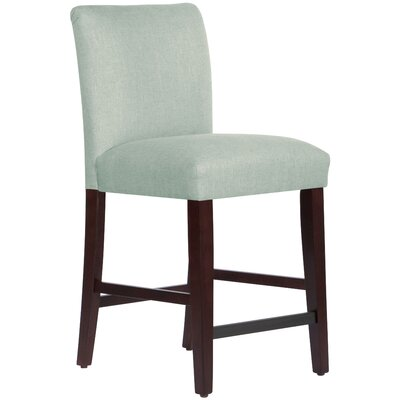 Connery 26 Bar Stool Body Fabric: Linen Swedish Blue