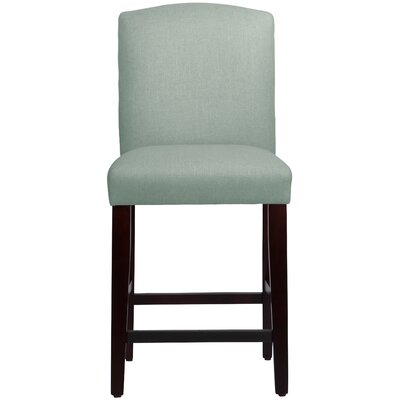 Nadia 26 Bar Stool Body Fabric: Linen Swedish Blue