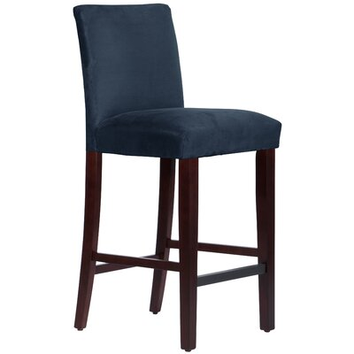Connery 31 inch Bar Stool Body Fabric: Premier Navy
