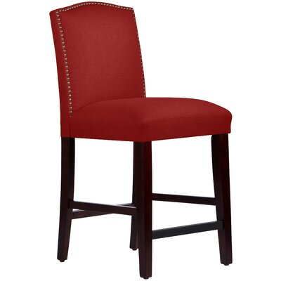 Nadia 26 Bar Stool Body Fabric: Linen Antique Red